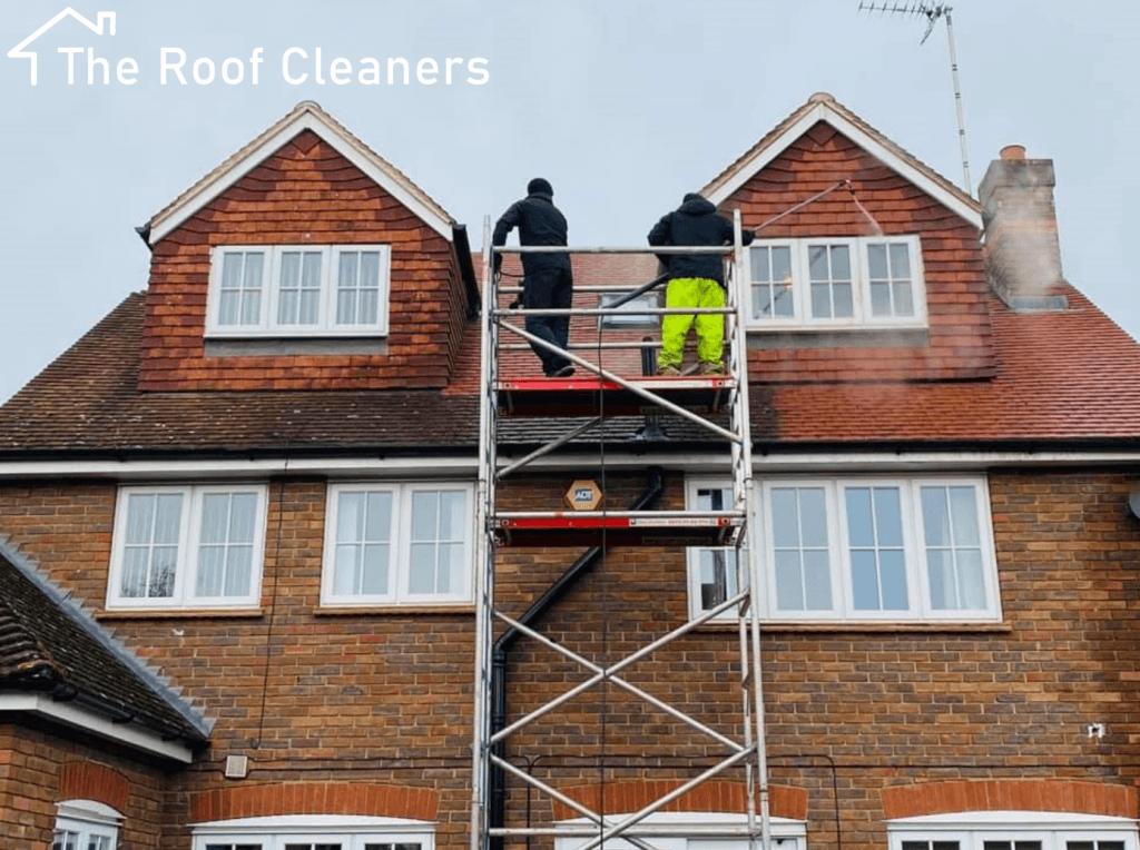 Roof soft wash London